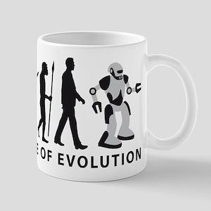 evolution of man cyborg robotor Mugs