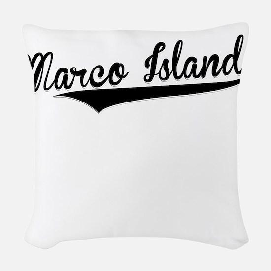 Marco Island, Retro, Woven Throw Pillow