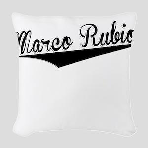 Marco Rubio, Retro, Woven Throw Pillow