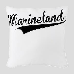 Marineland, Retro, Woven Throw Pillow