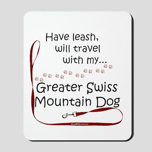 Swissy Travel Leash Mousepad