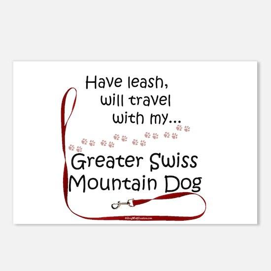 Swissy Travel Leash Postcards (Package of 8)