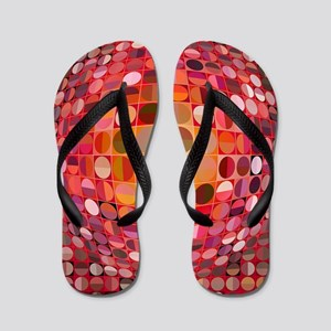 Optical Illusion Sphere - Pink Flip Flops