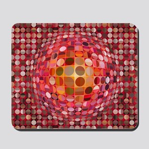 Optical Illusion Sphere - Pink Mousepad