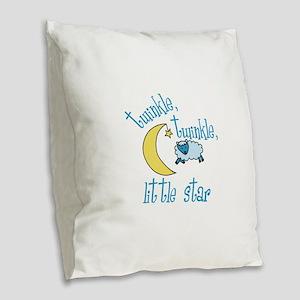 twinkle, twinkle, little star Burlap Throw Pillow