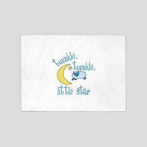 twinkle, twinkle, little star 5'x7'Area Rug