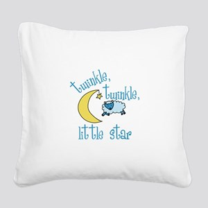 twinkle, twinkle, little star Square Canvas Pillow