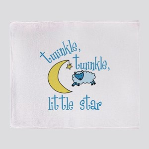 twinkle, twinkle, little star Throw Blanket