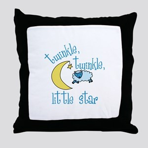 twinkle, twinkle, little star Throw Pillow