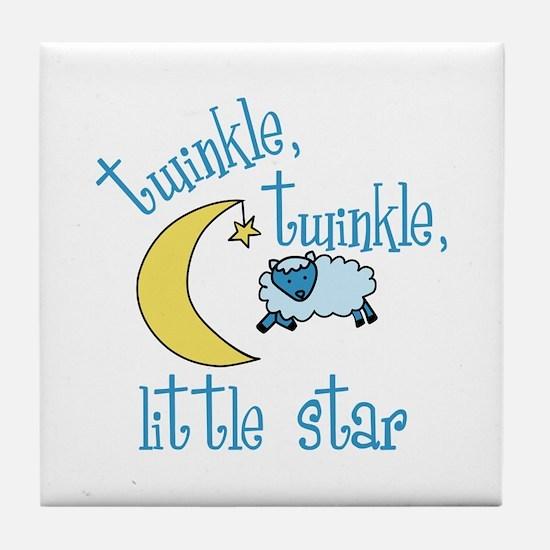 twinkle, twinkle, little star Tile Coaster