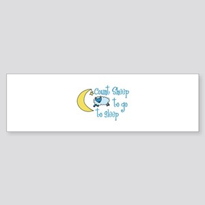 Count Sheep to go to sleep Bumper Sticker