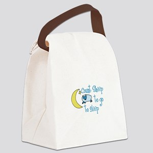 Count Sheep to go to sleep Canvas Lunch Bag