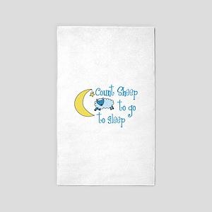 Count Sheep to go to sleep 3'x5' Area Rug