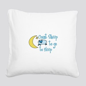 Count Sheep to go to sleep Square Canvas Pillow