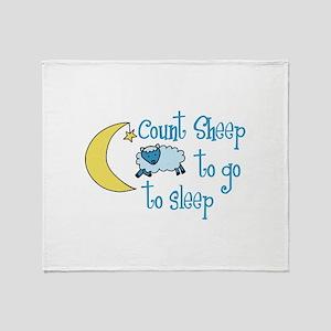 Count Sheep to go to sleep Throw Blanket