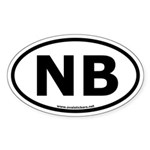 NB Oval Bumper Sticker