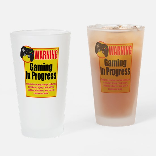 Gaming In Progress Drinking Glass