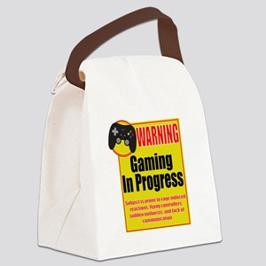 Gaming In Progress Canvas Lunch Bag