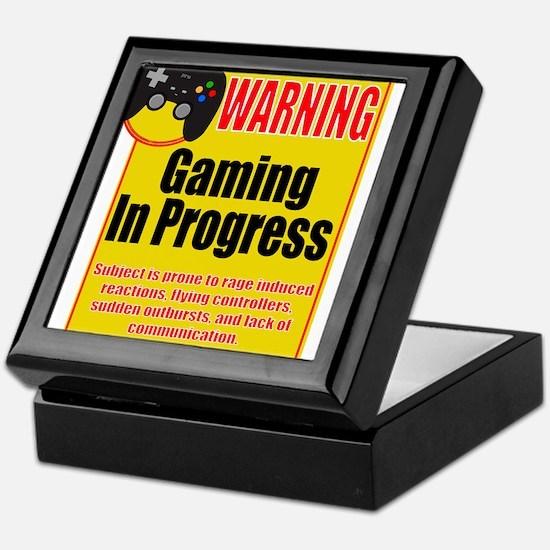 Gaming In Progress Keepsake Box