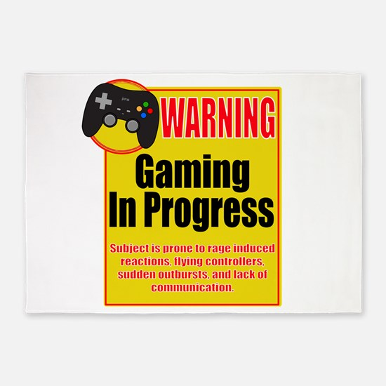 Gaming In Progress 5'x7'Area Rug