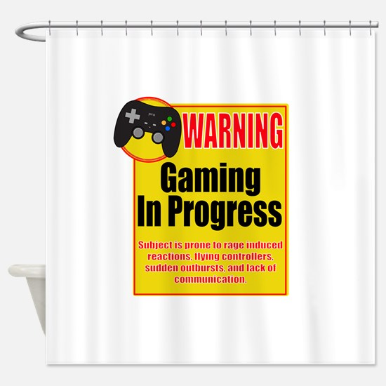 Gaming In Progress Shower Curtain