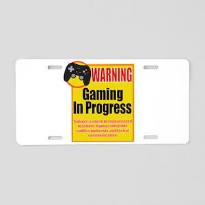 Gaming In Progress Aluminum License Plate