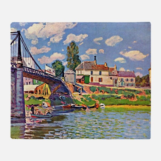 Bridge at Villene - Impressionism la Throw Blanket