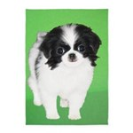 Japanese Chin 5'x7'Area Rug