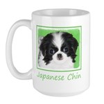 Japanese Chin 15 oz Ceramic Large Mug