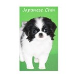 Japanese Chin Sticker (Rectangle 10 pk)