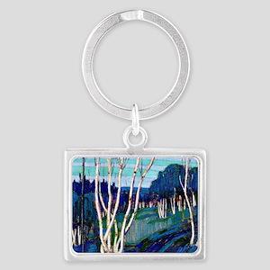 Tom Thomson - Silver Birches Landscape Keychain
