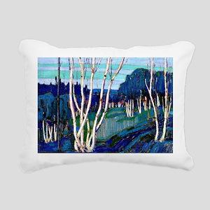 Tom Thomson - Silver Bir Rectangular Canvas Pillow