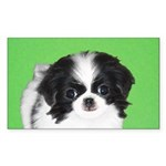 Japanese Chin Sticker (Rectangle)
