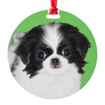 Japanese Chin Round Ornament