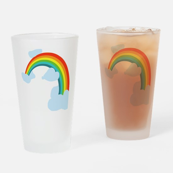 Cute Rainbow Drinking Glass