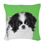 Japanese Chin Woven Throw Pillow