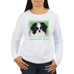 Japanese Chin Women's Long Sleeve T-Shirt