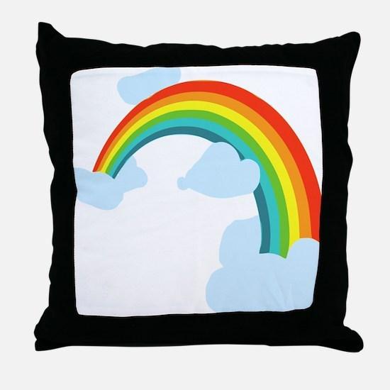 Cute Rainbow Throw Pillow