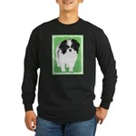Japanese Chin Long Sleeve Dark T-Shirt