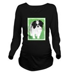 Japanese Chin Long Sleeve Maternity T-Shirt