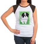 Japanese Chin Junior's Cap Sleeve T-Shirt