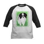 Japanese Chin Kids Baseball Tee