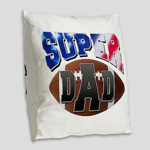Super Dad USA Burlap Throw Pillow