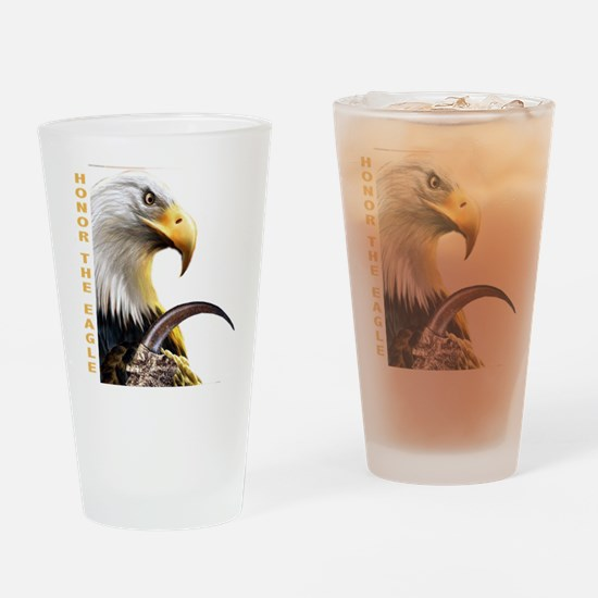 Honor The Eagle Drinking Glass