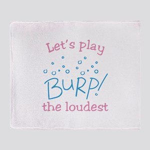 Lets Play Burp! the loudest Throw Blanket