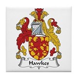 Hawkes coat arms Tile Coasters