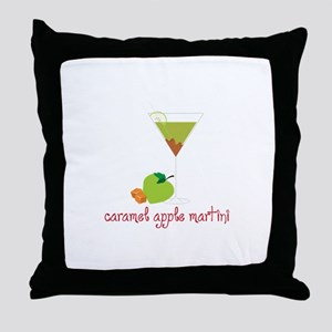 Caramel apple martini Throw Pillow