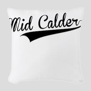 Mid Calder, Retro, Woven Throw Pillow