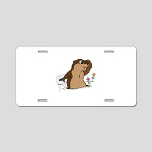 Groundhog Day Shadow Aluminum License Plate