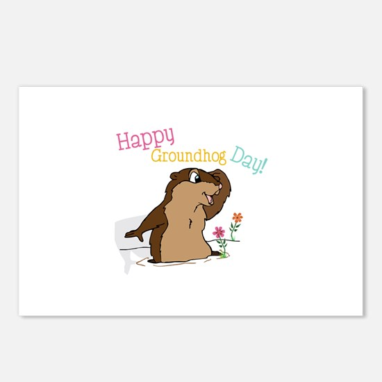 Happy Groundhog Day Postcards (Package of 8)